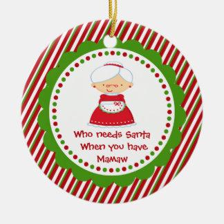 Who Needs Santa... Mamaw Christmas Ornament