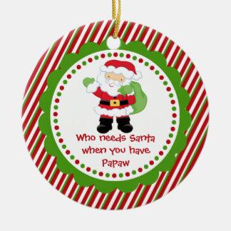 Who Needs Santa... Papaw Christmas Ornament