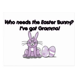 Who needs the Easter Bunny? I've got Gramma! Postcard