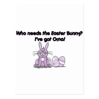 Who needs the Easter bunny? I've got Oma! Postcard