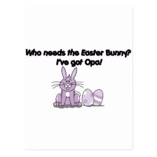 Who needs the Easter Bunny? I've got Opa Postcard