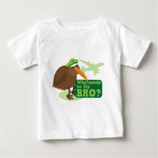 Who needs to fly bro? kiwi bird Humor Baby T-Shirt