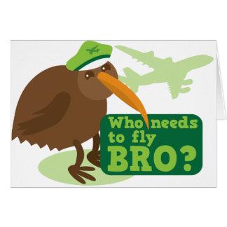 Who needs to fly bro? kiwi bird Humor Card