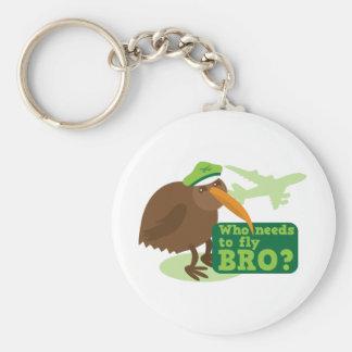 Who needs to fly bro? kiwi bird Humor Keychain