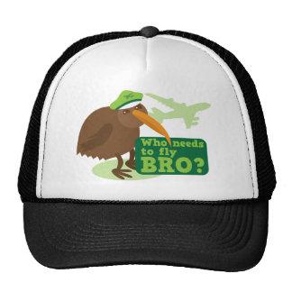 Who needs to fly bro? kiwi bird Humor Trucker Hat
