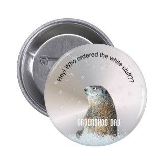 Who ordered the white stuff? pinback button