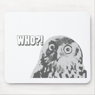 Who Owl Mouse Pad