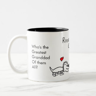 Who's The Greatest Granddad Of Them All, Dinosaur Two-Tone Coffee Mug