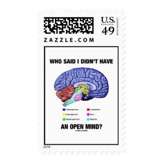 Who Said I Didn't Have An Open Mind? (Brain Humor) Stamps