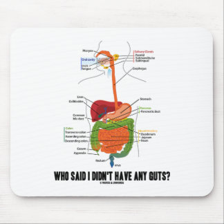 Who Said I Didn't Have Any Guts? Digestive System Mouse Pad