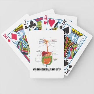 Who Said I Didn't Have Any Guts? Digestive System Bicycle Poker Cards