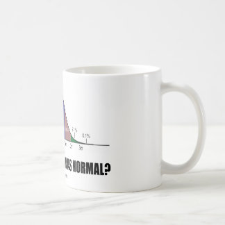 Who Said That I Was Normal? (Bell Curve Humor) Classic White Coffee Mug