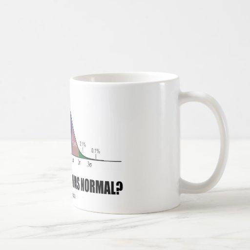 Who Said That I Was Normal? (Bell Curve Humor) Coffee Mug