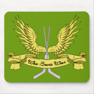 Who Saves Wins Hockey Mousemat Mouse Pad