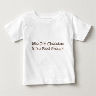 Who Says Chocolate Isn't a Foodgroup Tee Shirt