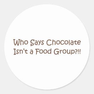 Who Says... Classic Round Sticker