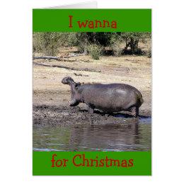 """WHO SAYS I'M HARD TO BUY FOR"" HUMOROUS CHRISTMAS CARD"