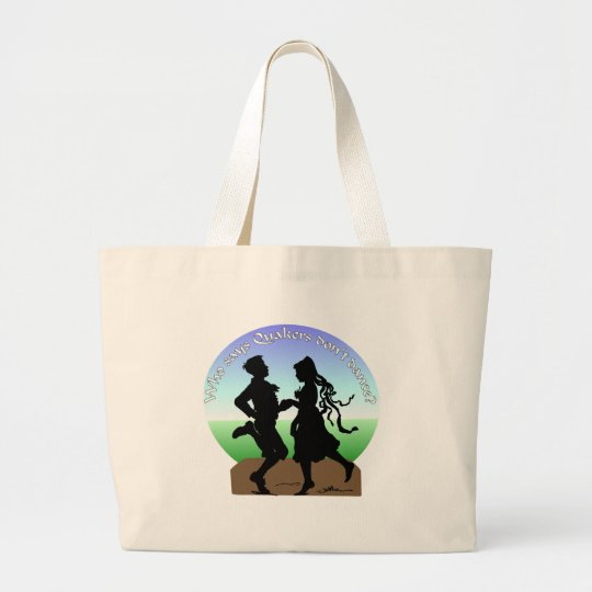 Who says Quakers don't dance? Large Tote Bag