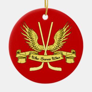 Who Scores Wins, Hockey Ornament