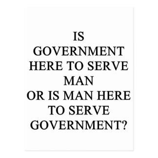who serves who? postcard
