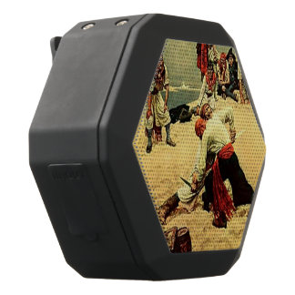 Who Shall Be Captain? pirate art Black Bluetooth Speaker
