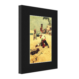 Who Shall Be Captain? pirate art Canvas Print