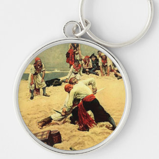 Who Shall Be Captain? pirate art Keychain