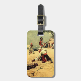 Who Shall Be Captain? pirate art Luggage Tag