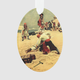 Who Shall Be Captain? - pirate art Ornament