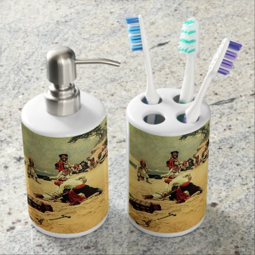 Pirate Art Toothbrush Holder