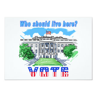 Who Should Live Here White House Card
