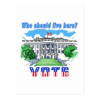 Who Should Live Here White House Postcard