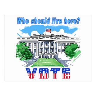 Who Should Live Here White House Postcard