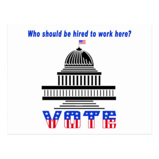 Who Should Work Here Congress Postcard
