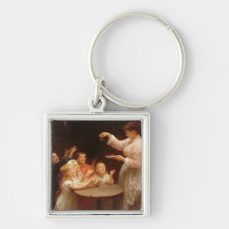 'Who Speaks First?' (oil on canvas) Keychain