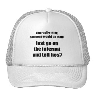 Who Spreads Lies on the Internet? Trucker Hat