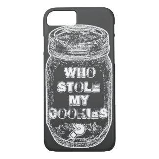 Who Stole My Cookies? Chalkboard Style iPhone 8/7 Case