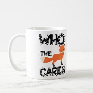 Who The Fox Cares Mug