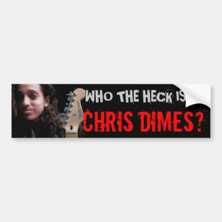 Who The Hell Is Chris Dimes? Car Bumper Sticker