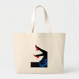 .who the hell shot dorothy large tote bag