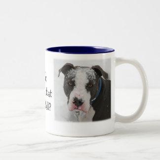 Who threw that snowball Two-Tone coffee mug