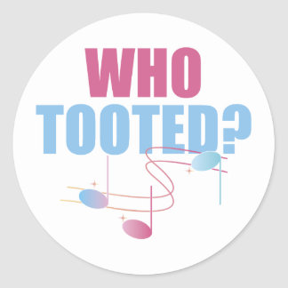 Who Tooted Funny Music Stickers