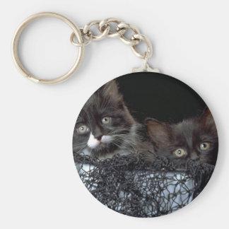 Who Us? Basic Round Button Keychain