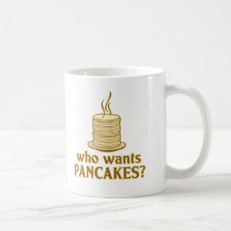 Who wants pancakes? classic white coffee mug