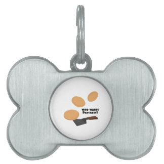 Who Wants Pancakes? Pet ID Tags