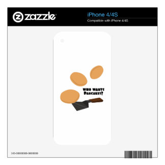 Who Wants Pancakes? iPhone 4 Decals
