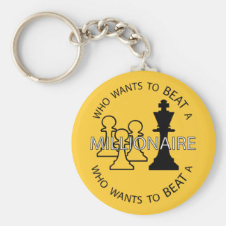Who wants to beat a millionaire basic round button keychain