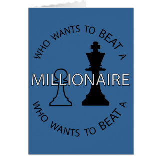Who wants to beat a millionaire card