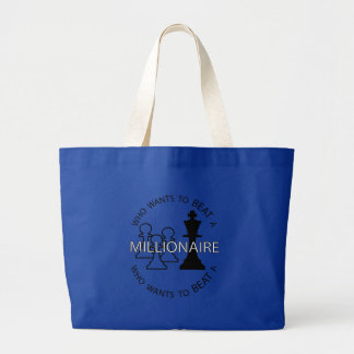 Who wants to beat a millionaire large tote bag