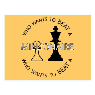 Who wants to beat a millionaire postcard
